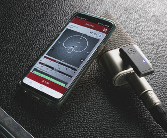 How the 100% analogue Austrian Audio OC818 microphone can be remote controlled from an iOS/Android app