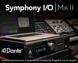 Apogee announce Dante™ Option Card for Symphony I/O Mk II