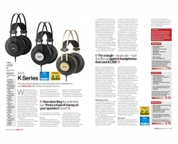 Latest AKG K Series headphones receive MusicTech 'Value' and 'Choice' awards
