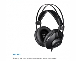 AKG K52 headphones nominated in What Hi-Fi? awards 2016