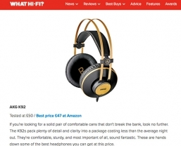 AKG K92 headphones featured in What Hi-Fi's '10 tech gift ideas under…