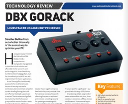'..may be the best $100 tool in the portable PA marketplace today' - AMI on the dbx goRack