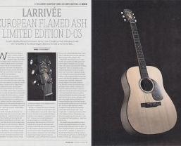 Acoustic review the 'high class' Larrivée D-03 Flamed Ash Limited Edition