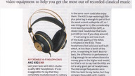 BBC Music Magazine recommends AKG K92