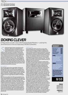 DJ Mag says JBL LSR 3 Series 'perfect for production and mixing'
