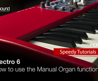 Nord Speedy Tutorial: How to use the Manual Organ function on the Nord Electro 6