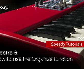 Nord Speedy Tutorial: How to use the Organise Function on the Nord Electro 6