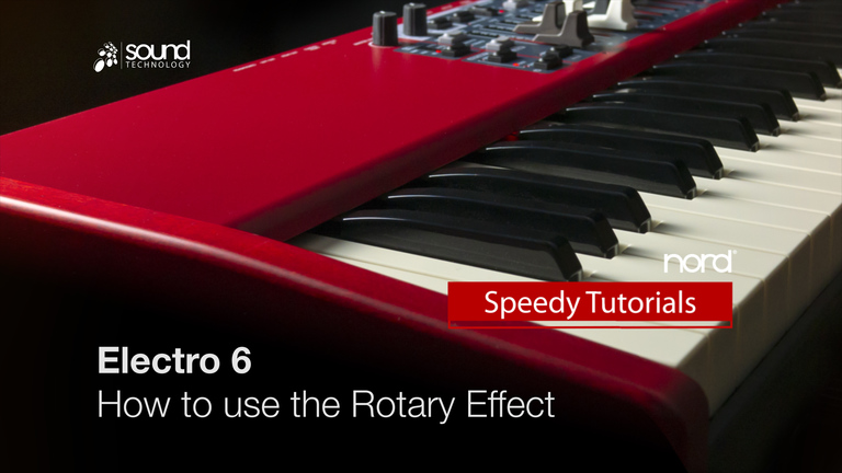 Nord Speedy Tutorial: How to use the Rotary Effect on the Nord Electro 6