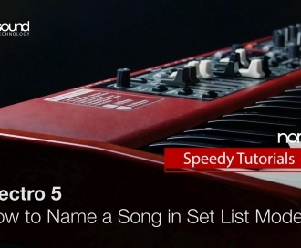 Nord Electro 5 : How to name a Song in Set List mode