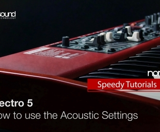 Nord Speedy Tutorial : How to use the Acoustic Settings on an Electro 5
