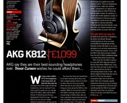 Flagship AKG K812 headphones reviewed in Future Music magazine
