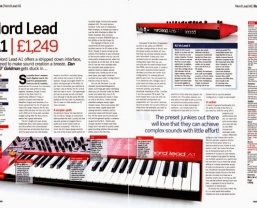Nord Lead A1 receives Future Music Platinum award