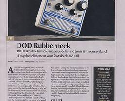 DOD Rubberneck analogue delay pedal receives 'Guitarist Choice' award