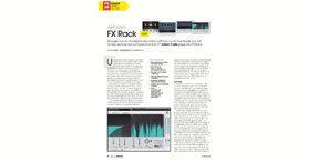 Excellent Apogee FX Rack plugin suite awarded MusicTech 'Choice'