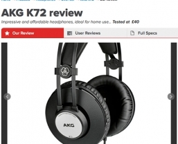 AKG K72 headphones claim five What Hi-Fi? stars
