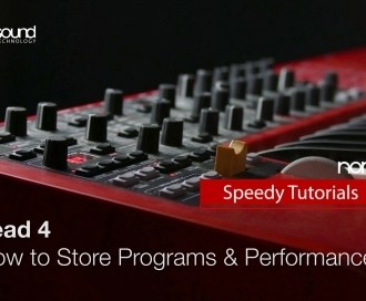 Nord Speedy Tutorial: How to Store Programs and Performances on a Nord Lead 4
