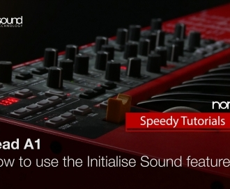 Nord Speedy Tutorial: How to use the Sound Initialise Function on a Nord Lead A1