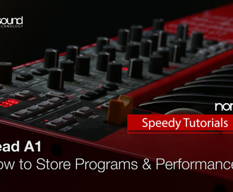 Nord Speedy Tutorial: How to Store Programs and Performances on a Nord Lead A1