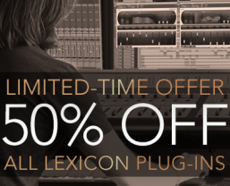 50% off all Lexicon plug-ins until 1 December 2015