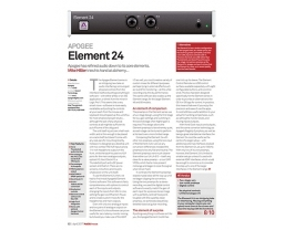 MusicTech magazine review the Apogee Element 24