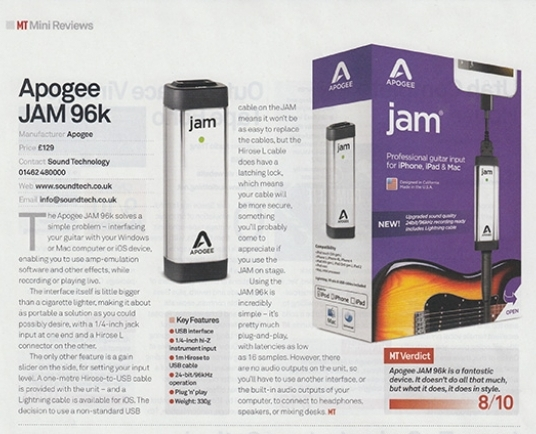 MusicTech magazine review the