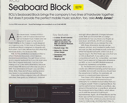 ROLI Seaboard Block receives MusicTech 'Choice' & 'Value' awards