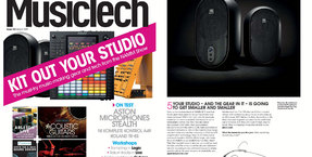 JBL One Series 104 monitors land MusicTech magazine cover