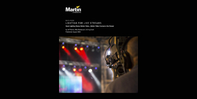 New Martin White Paper: 'Lighting for Live Streams'