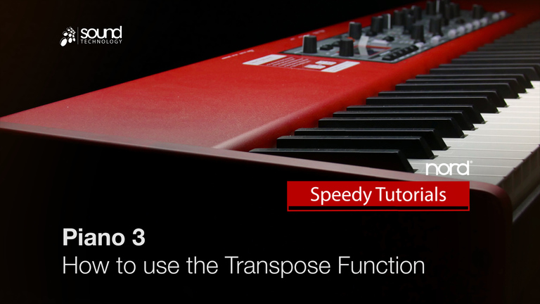 Nord Speedy Tutorial : How to use the Transpose Function on the Nord Piano 3