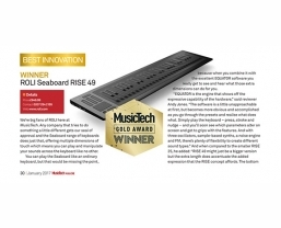 ROLI Seaboard RISE 49 wins MusicTech magazine's 'Best Innovation' award