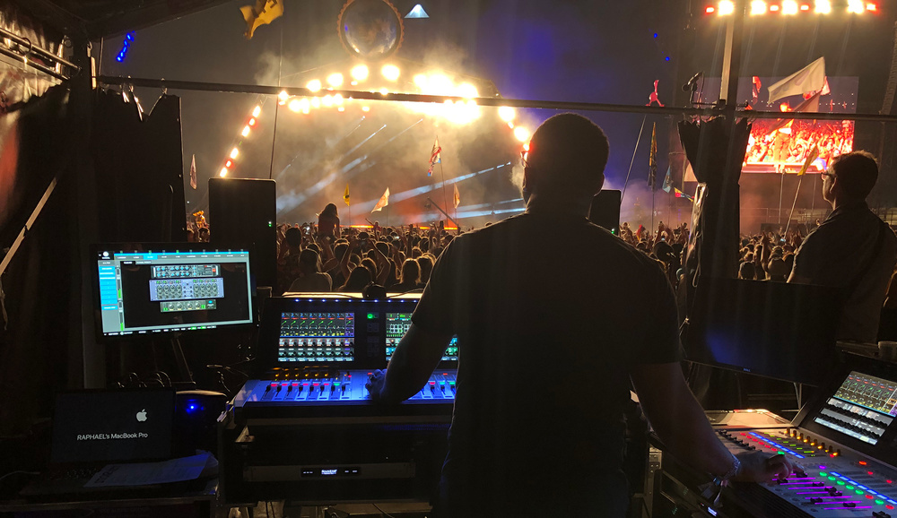 Historic Stormzy Glastonbury headline set mixed by Raphael Williams with Soundcraft Vi2000 consoles