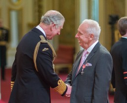 Robert Wilson collects MBE