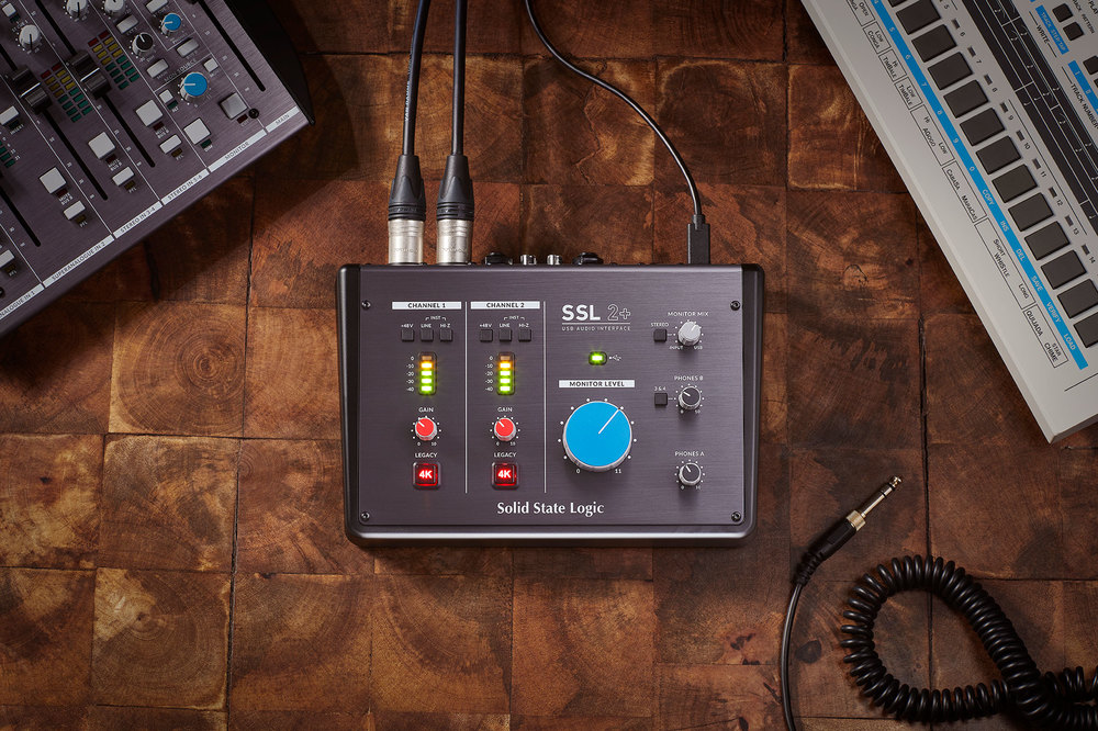 Solid State Logic's new 2 and 2+ USB Audio Interfaces bring studio quality to personal studios