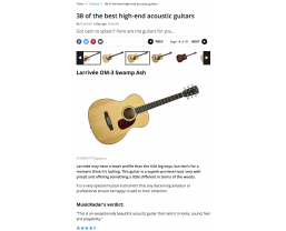 Eight Larrivée models featured in MusicRadar's