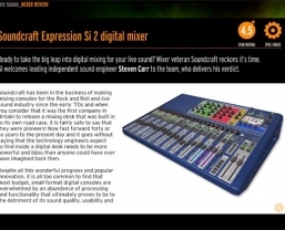 Soundcraft Si Expression 2 reviewed by Guitar Interactive magazine