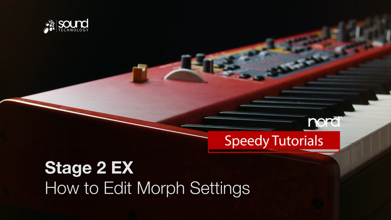 Nord Speedy Tutorial: How to edit/delete Morph settings on a Stage 2 / 2 EX