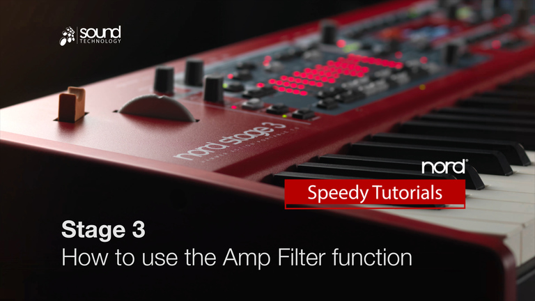 Nord Speedy Tutorial: How to use the Amp Filter Function on