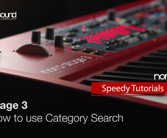 Nord Speedy Tutorial : How to use the Category Function on the Nord Stage 3