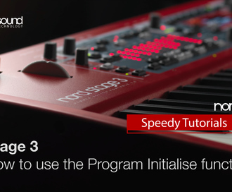 Nord Speedy Tutorial: How to use the Program Initialise function on the Stage 3