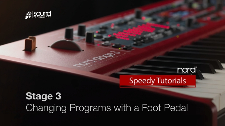 Nord Speedy Tutorial: Changing Programs using a Foot Pedal