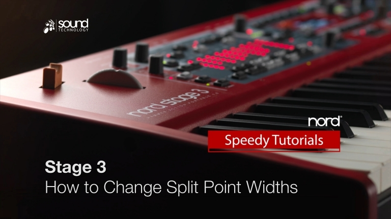 Nord Speedy Tutorial: How to use the new Split Point crossfade option on a Nord Stage 3