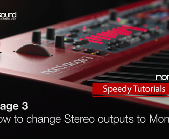 Nord Speedy Tutorial: How to change Stereo Outputs to Mono on a Stage 3