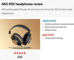 Stuff says AKG K92 headphones are 'the new gold standard'