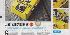 DigiTech CabDryVR receives Total Guitar magazine's 'Best Buy' Award