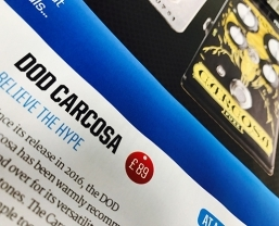 DOD Carcosa Fuzz pedal featured in Total Guitar magazine round-up