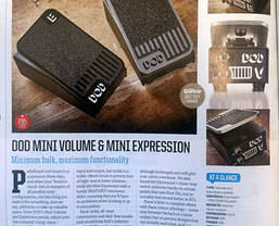 DOD Mini Volume & Mini Expression pedals awarded Total Guitar 'Best Buy'