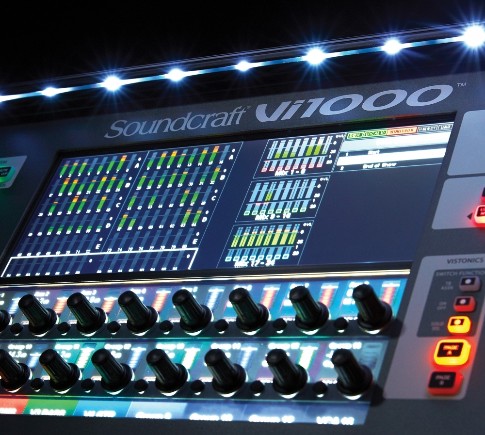 Soundcraft by HARMAN debuts Vi1000 digital mixing console