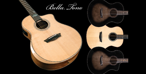 Washburn Bella Tono series acoustic guitars now shipping in the UK
