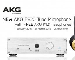 Free AKG K121 headphones with AKG P820 Tube Microphone offer ends next week