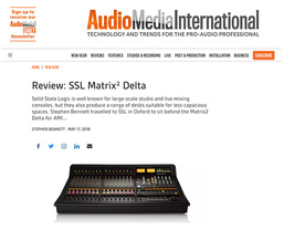 Audio Media International review the SSL Matrix² Delta